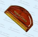 櫛を離れた木製の櫛のカシミヤ織のけば