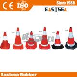 Cono de goma del tráfico del color blanco y rojo (DH-LZ-4)