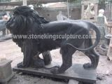 Мраморный Lion, Carved Stone Lion и Marble Animals (SK-2186)