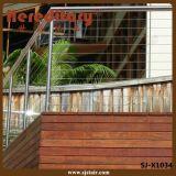 Balustrade de pêche à la traîne de frontière de sécurité de balcon d'acier inoxydable (SJ-X1034)