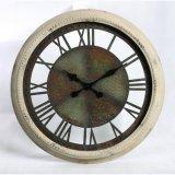 Forma redonda reloj de cuarzo de la pared del metal
