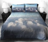 Size 100%年のCotton Bed Sheet Comforter Set 3D Reactive Printed Bed王部屋Set