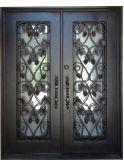 Двери входа чугуна с листьями для дома