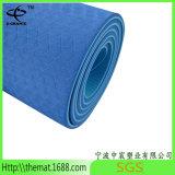 Estera vendedora caliente del ejercicio de la estera de la yoga de la TPE de las capas dobles de 6m m