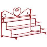 Forma de barril de madeira Display decorativo de armazenamento Vento Stand Rack