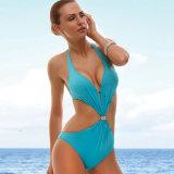 Blaue Farben-bessert reizvolle Bikini-Badebekleidung man Frauen-Badeanzüge aus