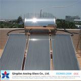 vidro solar modelado Baixo-Ferro de 3.2mm/4mm