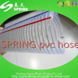 Boyau renforcé transparent de l'eau de débit industriel de l'eau de fil d'acier de PVC