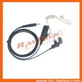 Écouteur acoustique de tube de nécessaires de surveillance pour la radio bi-directionnelle