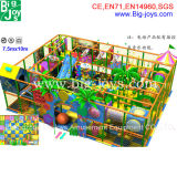 Спортивная площадка привлекательного тематического парка мягкая крытая для малышей (BJ-AT125)