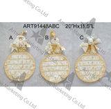 Blanco y media del ángel de la decoración del hogar de la Navidad del oro