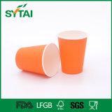 Tazza di carta riciclata di prezzi di Customed del caffè a gettare poco costoso di disegno