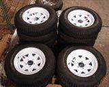 """13 """" 15 """"は販売のための黒くか白いキャラバン車の鋼鉄トレーラーの空気の車輪か縁を4/5/6力まかせに引く"""