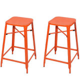 Hzmc094 металл Stackable квадратное верхнее Backless Barstools