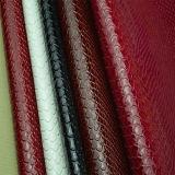 Cuir de sac à dos de PVC des graines de serpent du certificat Reach163
