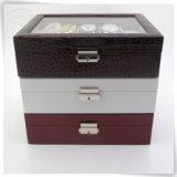 Затавренные новаторские коробки подарка вахты кожи PU конструкции способа