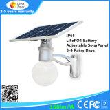 옥외 4W-12W 운동 측정기 통합 LED 태양 거리 정원 빛