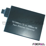 convertidor óptico 1550nm 1X9 SM el 120km de los media de la fibra del 10/100m