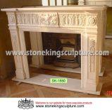 Cheminée de marbre de mantel de cheminée en pierre (SK-1580)