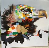 거실 Wall Art Modern Artwork를 위한 Canvas에 아름다운 Animal Eagle Head Oil Painting