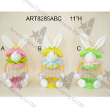 """11 """" H - decoración 3asst. del conejito del envase del convite del conejito de pascua"""