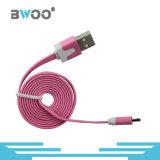O cabo liso colorido do USB do cabo por atacado do telefone jejua carregador