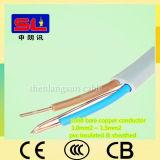 6242y双生児および地球PVC裸のCuが付いている平らな配線ケーブル