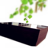 Um-Tempo-Quente-Pressionar a madeira compensada, película preta madeira compensada enfrentada, madeira compensada da construção