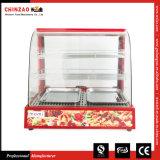 Fast food elétrico Zsg-50-3 do Showcase do aquecedor de alimento da parte superior contrária
