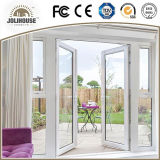 新しい方法工場安い価格のガラス繊維中グリルが付いているプラスチックUPVC/PVCのガラス開き窓のドア販売のために