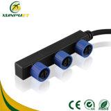 Linha de borracha 8 conetor impermeável do cabo do Pin para a lâmpada de rua