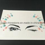 Etiqueta engomada cristalina de la etiqueta engomada del Rhinestone del brillo de ojo de la belleza de acrílico de la sombra (S058)