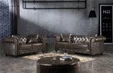 Sofà stabilito del cuoio dell'aria della mobilia del sofà reale della mobilia del salone dei 2017 classici