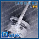 Vávula de bola empernada de dos piezas bidireccional de la carrocería del vástago anti del escape de Didtek