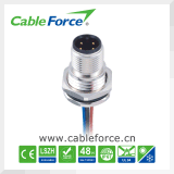 Conetor circular em linha reta protegido de conetor de cabo do Pin M12 4