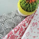 La tela del poliester y de algodón para las hojas de base se dirige la materia textil