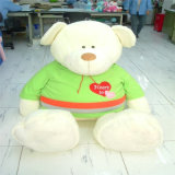 Bel ours de nounours normal de la peluche Cp65 avec le T-shirt rouge