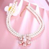 Collana di plastica del branello delle donne della collana del fiore del branello della perla