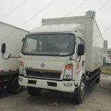 Camion léger en forme de boîte de Cnhtc 8-9tons 4X2