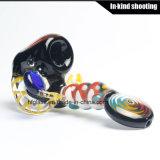 Цветастая рука Shisha пускает толщиной куря стеклянной воск по трубам ЛИМАНДЫ оптовой продажи барботера табака кальяна трубы дунутый рукой стремительный