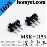 Interruptor eléctrico del fabricante/interruptor deslizante con 6pin (MSK-1153)