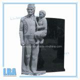 Серые надгробная плита гранита цвета/памятник американского типа