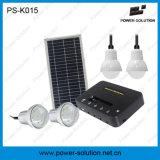Lumière portative rechargeable de maison d'énergie solaire avec le remplissage de téléphone (PS-K015)