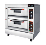1-Cubierta de 2 bandejas de gas Horno Horno de Pizza Bakery Equipment