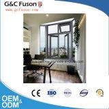 Guichet vers l'intérieur de tissu pour rideaux d'aluminium arqué par configuration horizontale d'ouverture de qualité