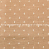 Il jacquard a prova di fuoco inerentemente ignifugo domestico Brown della tessile del poliestere punteggia il tessuto tenda/del sofà