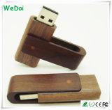 Disco istantaneo del USB della parte girevole di legno con piena capacità (WY-W09)