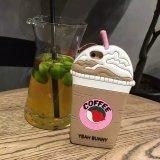 Горячее аргументы за iPhone6 силикона кофеего мороженного шаржа