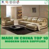 Salle de séjour contemporaine L sofa de cuir de forme