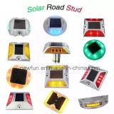 Borne augmentée de trottoir/balise lumineuse solaire de route/goujon solaire de route